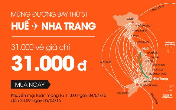 Mừng đường bay thứ 31, Jetstar tung 31.000 vé giá 31.000 VND!
