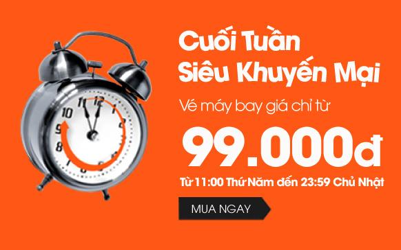 Siêu khuyến mãi Jetstar cuối tuần vé 99.000 VND