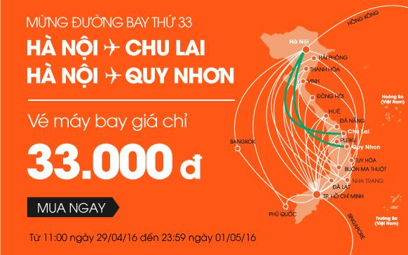 Siêu khuyến mãi vé 33,000 VND mừng đường bay mới!