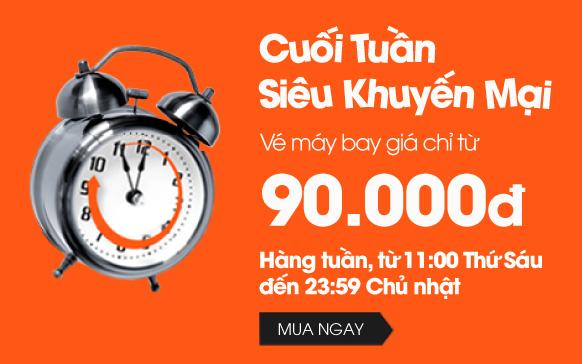 Jetstar siêu khuyến mãi vé 90,000 VND