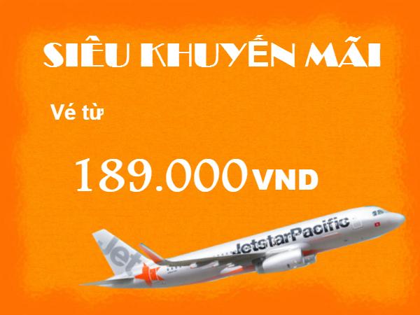 Jetstar siêu khuyến mãi cuối tuần vé 189,000 VND
