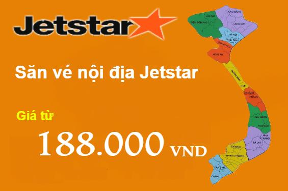Jetstar khuyến mãi vé 188,000 VND mừng đường bay mới!