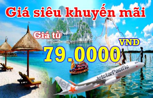 Cuối tuần siêu khuyến mãi Jetstar, vé 79.000 VND
