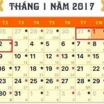 Lịch nghỉ Tết Dương lịch và Tết Nguyên Đán Đinh Dậu 2017