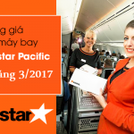 Bảng giá vé máy bay Jetstar tháng 3 năm 2017