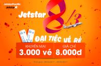 Mừng 8/3, Jetstar tung 3,000 vé siêu rẻ chỉ 8,000 VNĐ