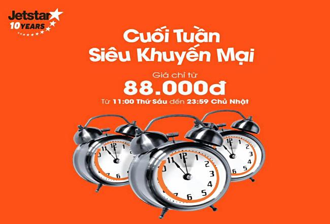 Thả ga du lịch cùng vé Jetstar siêu rẻ, chỉ 88,000 VNĐ