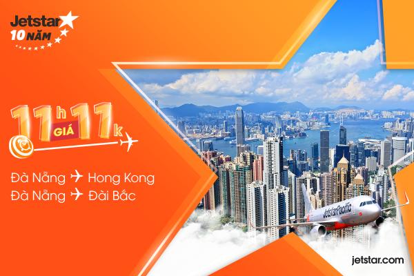 Săn vé Jetstar 11,000 VNĐ, thỏa ước mơ Đài Bắc, Hồng Kông!
