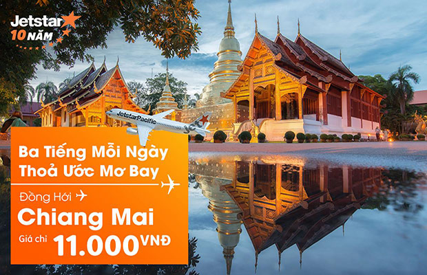 11 giờ rồi! Săn vé máy bay đi Chiang Mai giá 11.000đ