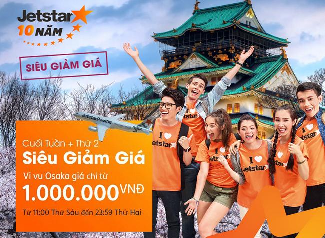 Săn vé cuối tuần + thứ 2 siêu giảm giá chỉ từ 88.000đ, vi vu Osaka chỉ với 1 triệu đồng