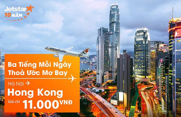 11h trưa nay! Vé máy bay Hà Nội – Hong Kong chỉ 11.000đ