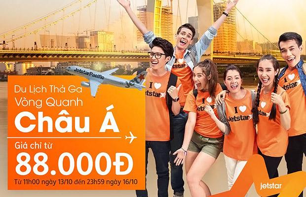 Du lịch thả ga vòng quanh Châu Á cùng vé Jetstar từ 88.000đ