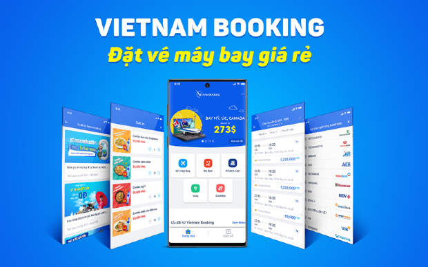 app đặt vé máy bay Vietnam Booking